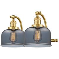 Innovations Lighting 515-2W-SG-G73-LED Large Bell LED 18 inch Satin Gold Bath Vanity Light Wall Light Franklin Restoration