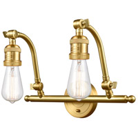 Innovations Lighting 515-2W-SG-LED Addison LED 18 inch Satin Gold Bath Vanity Light Wall Light Franklin Restoration