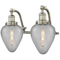 Innovations Lighting 515-2W-SN-G165-LED Geneseo LED 18 inch Brushed Satin Nickel Bath Vanity Light Wall Light Franklin Restoration