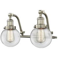 Innovations Lighting 515-2W-SN-G202-6 Beacon 2 Light 16 inch Brushed Satin Nickel Bath Vanity Light Wall Light Franklin Restoration