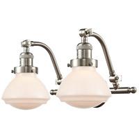 Innovations Lighting 515-2W-SN-G321 Olean 2 Light 19 inch Satin Nickel Bath Vanity Light Wall Light Franklin Restoration