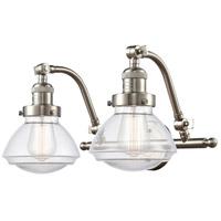 Innovations Lighting 515-2W-SN-G322 Olean 2 Light 19 inch Satin Nickel Bath Vanity Light Wall Light Franklin Restoration