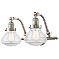 Innovations Lighting 515-2W-SN-G324 Olean 2 Light 19 inch Satin Nickel Bath Vanity Light Wall Light Franklin Restoration