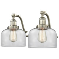 Innovations Lighting 515-2W-SN-G72 Large Bell 2 Light 18 inch Satin Nickel Bath Vanity Light Wall Light Franklin Restoration