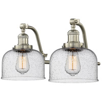Innovations Lighting Signature 2 Light 18 inch Brushed Satin Nickel Vanity Light Wall Light Large Bell