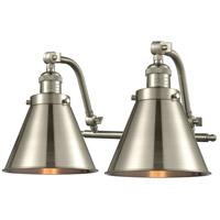 Innovations Lighting 515-2W-SN-M13-SN Appalachian 2 Light 18 inch Satin Nickel Bath Vanity Light Wall Light, Franklin Restoration