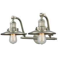 Innovations Lighting 515-2W-SN-M2-LED Railroad LED 18 inch Brushed Satin Nickel Bathroom Fixture Wall Light