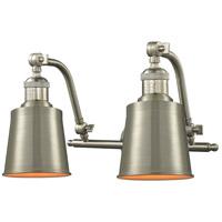 Innovations Lighting 515-2W-SN-M9-SN-LED Addison LED 18 inch Brushed Satin Nickel Bathroom Fixture Wall Light