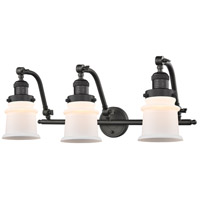Innovations Lighting 515-3W-OB-G181S Small Canton 3 Light 28 inch Oil Rubbed Bronze Bath Vanity Light Wall Light Franklin Restoration