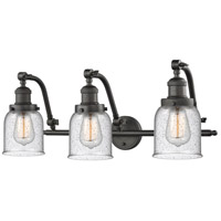 Innovations Lighting Signature 3 Light 28 inch Oiled Rubbed Bronze Vanity Light Wall Light Small Bell