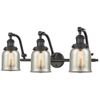 Innovations Lighting 515-3W-OB-G58 Small Bell 3 Light 28 inch Oil Rubbed Bronze Bath Vanity Light Wall Light Franklin Restoration