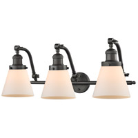 Innovations Lighting Signature 3 Light 28 inch Oiled Rubbed Bronze Vanity Light Wall Light Small Cone