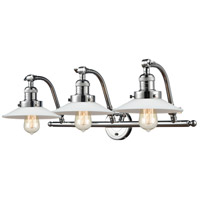 Innovations Lighting 515-3W-PC-G1 Halophane 3 Light 28 inch Polished Chrome Bath Vanity Light Wall Light Franklin Restoration