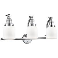 Innovations Lighting 515-3W-PC-G51 Small Bell 3 Light 28 inch Polished Chrome Bath Vanity Light Wall Light Franklin Restoration