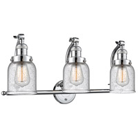 Innovations Lighting 515-3W-PC-G54 Small Bell 3 Light 28 inch Polished Chrome Bath Vanity Light Wall Light Franklin Restoration
