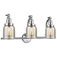 Innovations Lighting 515-3W-PC-G58 Small Bell 3 Light 28 inch Polished Chrome Bath Vanity Light Wall Light Franklin Restoration