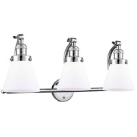 Innovations Lighting 515-3W-PC-G61 Small Cone 3 Light 28 inch Polished Chrome Bath Vanity Light Wall Light Franklin Restoration