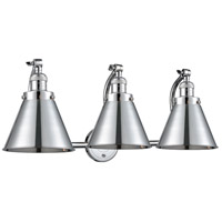 Innovations Lighting 515-3W-PC-M13-PC Appalachian 3 Light 28 inch Polished Chrome Bath Vanity Light Wall Light Franklin Restoration