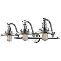 Innovations Lighting 515-3W-PC-M7 Railroad 3 Light 28 inch Polished Chrome Bath Vanity Light Wall Light Franklin Restoration