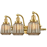 Innovations Lighting 515-3W-SG-G146 Chatham 3 Light 28 inch Satin Gold Bath Vanity Light Wall Light Franklin Restoration