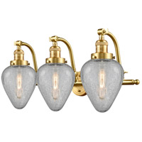 Innovations Lighting 515-3W-SG-G165 Geneseo 3 Light 28 inch Satin Gold Bath Vanity Light Wall Light Franklin Restoration