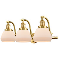Innovations Lighting 515-3W-SG-G171 Fulton 3 Light 28 inch Satin Gold Bath Vanity Light Wall Light Franklin Restoration