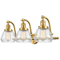 Innovations Lighting 515-3W-SG-G172 Fulton 3 Light 28 inch Satin Gold Bath Vanity Light Wall Light Franklin Restoration