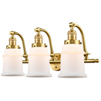 Innovations Lighting 515-3W-SG-G181-LED Canton LED 28 inch Satin Gold Bath Vanity Light Wall Light Franklin Restoration