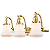 Innovations Lighting 515-3W-SG-G191-LED Bellmont LED 28 inch Satin Gold Bath Vanity Light Wall Light Franklin Restoration