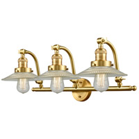 Innovations Lighting 515-3W-SG-G2-LED Halophane LED 28 inch Satin Gold Bath Vanity Light Wall Light Franklin Restoration