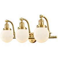 Innovations Lighting 515-3W-SG-G201-6-LED Beacon LED 26 inch Satin Gold Bath Vanity Light Wall Light Franklin Restoration