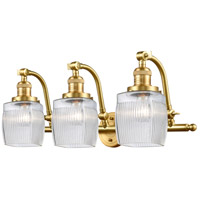 Innovations Lighting 515-3W-SG-G302 Colton 3 Light 27 inch Satin Gold Bath Vanity Light Wall Light Franklin Restoration