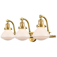 Innovations Lighting 515-3W-SG-G321-LED Olean LED 29 inch Satin Gold Bath Vanity Light Wall Light, Franklin Restoration