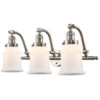 Innovations Lighting 515-3W-SN-G181-LED Canton LED 28 inch Brushed Satin Nickel Bath Vanity Light Wall Light Franklin Restoration
