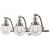 Innovations Lighting 515-3W-SN-G202-6-LED Beacon LED 26 inch Brushed Satin Nickel Bath Vanity Light Wall Light Franklin Restoration