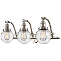 Innovations Lighting 515-3W-SN-G204-6-LED Beacon LED 26 inch Brushed Satin Nickel Bath Vanity Light Wall Light Franklin Restoration