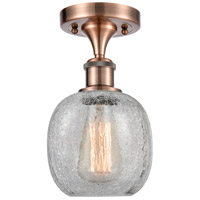 Innovations Lighting 516-1C-AC-G105-LED Belfast LED 6 inch Antique Copper Semi-Flush Mount Ceiling Light, Ballston
