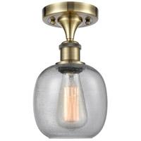 Innovations Lighting 516-1C-AB-G104 Belfast 1 Light 6 inch Antique Brass Semi-Flush Mount Ceiling Light, Ballston