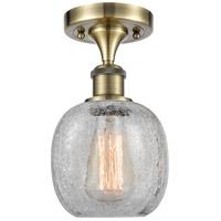 Innovations Lighting 516-1C-AB-G105-LED Belfast LED 6 inch Antique Brass Semi-Flush Mount Ceiling Light, Ballston