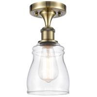 Innovations Lighting 516-1C-AB-G392-LED Ellery LED 5 inch Antique Brass Semi-Flush Mount Ceiling Light, Ballston