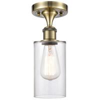 Innovations Lighting 516-1C-AB-G802-LED Clymer LED 4 inch Antique Brass Semi-Flush Mount Ceiling Light Ballston
