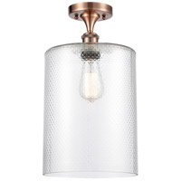 Innovations Lighting 516-1C-AC-G112-L-LED Large Cobbleskill LED 9 inch Antique Copper Semi-Flush Mount Ceiling Light, Ballston