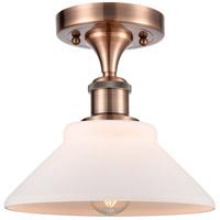 Innovations Lighting 516-1C-AC-G131-LED Orwell LED 9 inch Antique Copper Semi-Flush Mount Ceiling Light Ballston