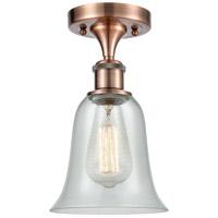 Innovations Lighting 516-1C-AC-G2812-LED Hanover LED 6 inch Antique Copper Semi-Flush Mount Ceiling Light Ballston