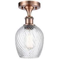 Innovations Lighting 516-1C-AC-G292-LED Salina LED 5 inch Antique Copper Semi-Flush Mount Ceiling Light Ballston