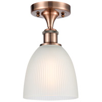 Innovations Lighting 516-1C-AC-G381-LED Castile LED 6 inch Antique Copper Semi-Flush Mount Ceiling Light, Ballston