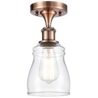 Innovations Lighting 516-1C-AC-G392 Ellery 1 Light 5 inch Antique Copper Semi-Flush Mount Ceiling Light, Ballston