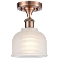 Innovations Lighting 516-1C-AC-G411-LED Dayton LED 6 inch Antique Copper Semi-Flush Mount Ceiling Light Ballston