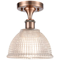 Innovations Lighting 516-1C-AC-G422-LED Arietta LED 8 inch Antique Copper Semi-Flush Mount Ceiling Light Ballston
