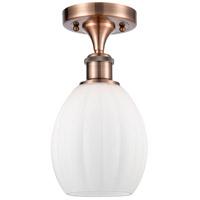 Innovations Lighting 516-1C-AC-G81-LED Eaton LED 6 inch Antique Copper Semi-Flush Mount Ceiling Light Ballston